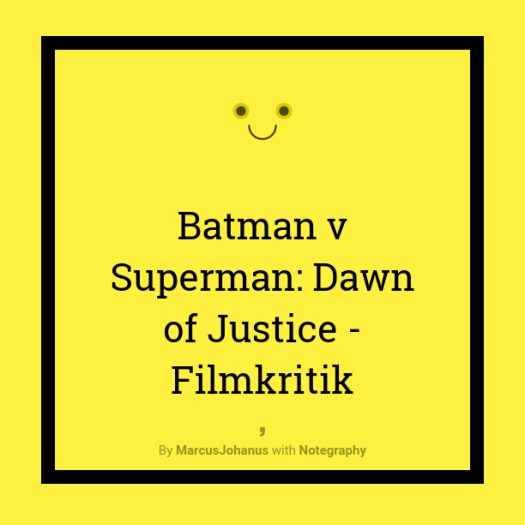 Batman v Superman Dawn of Justice Filmkriitik