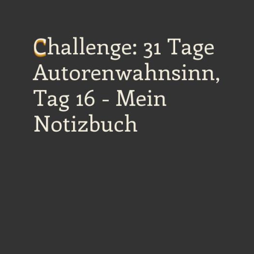 Challenge: 31 Tage Autorenwahnsinn, Tag 16 - Mein Notizbuch