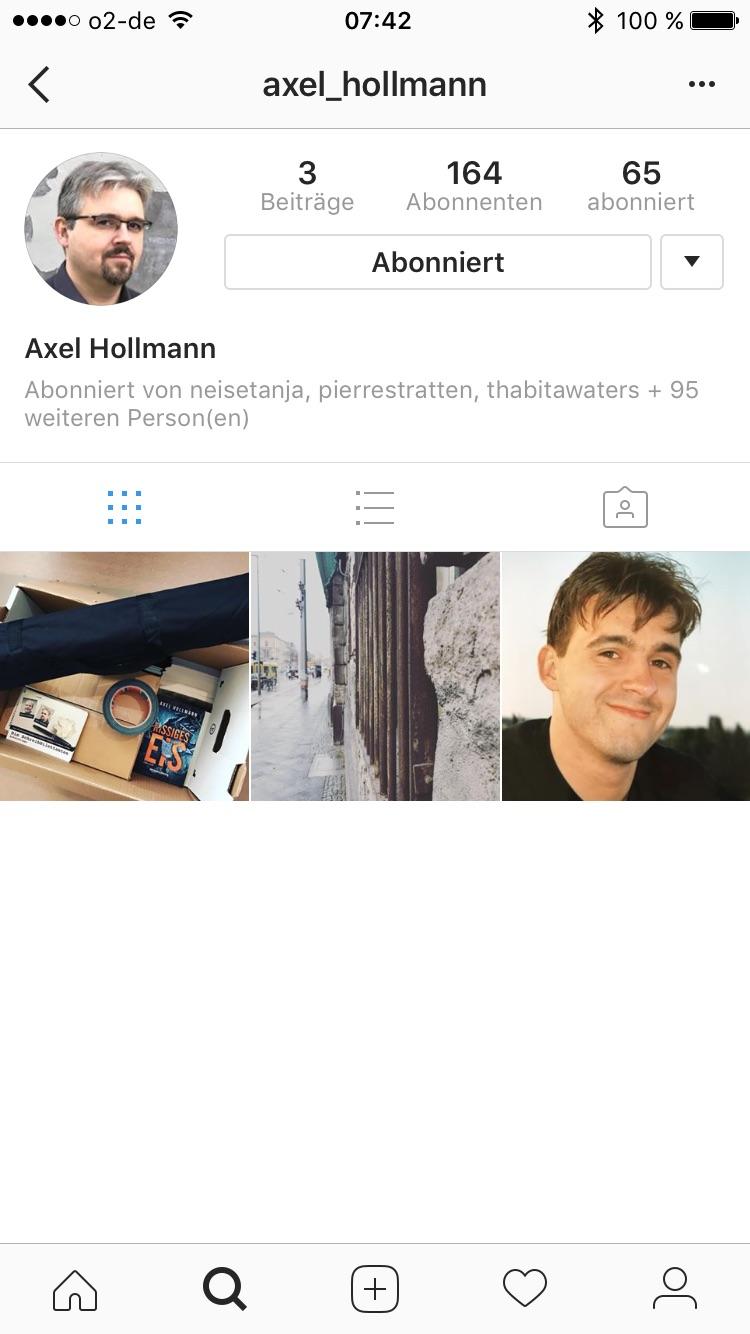 Challenge: 31 Tage Autorenwahnsinn, Tag 20 - inspirierender Instagram-Account