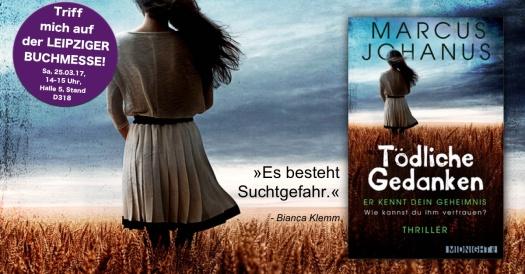 Triff Marcus Johanus auf der Leipziger Buchmesse 2017