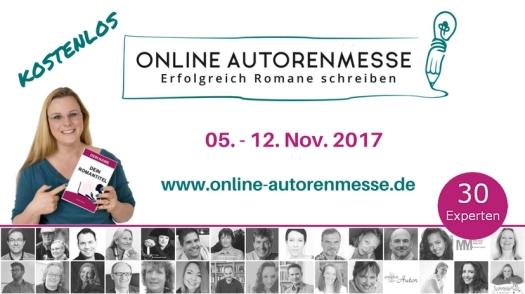 Triff mich auf der online Autorenmesse vom 05. bis zum 12. November 2017