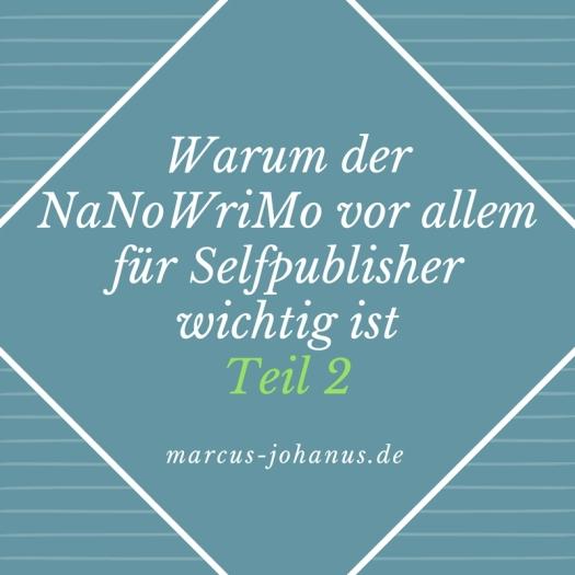 Warum der #NaNoWriMo vor allem für Selfpublisher wichtig ist Teil 2