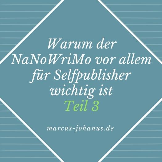 Warum der #NaNoWriMo vor allem für #selfpublisher wichtig ist, Teil 3