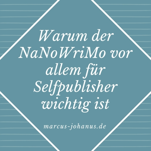 Warum der #NaNoWriMo vor allem für #Selfpublisher wichtig ist