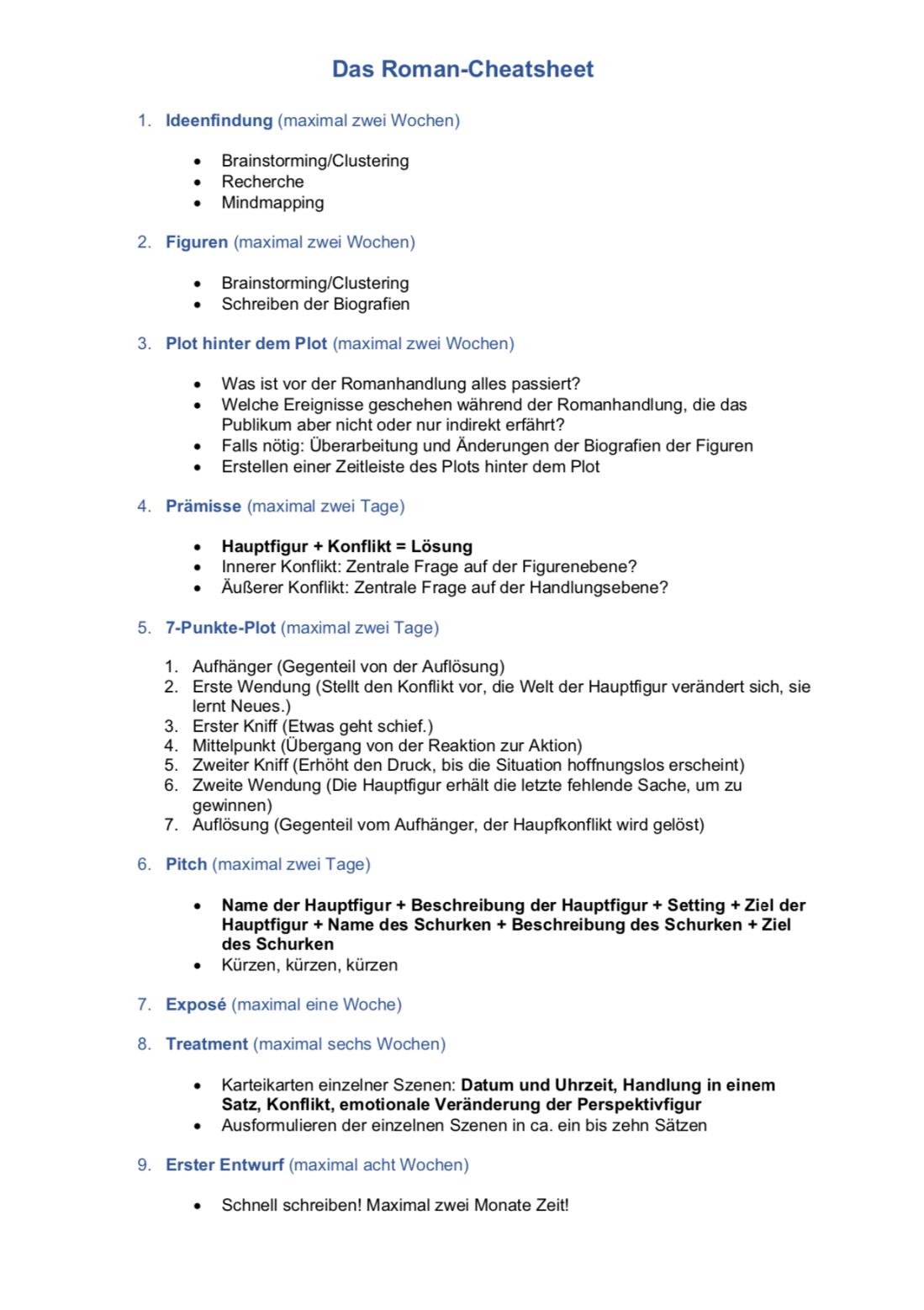 Das Roman Chat-Sheet als PDF