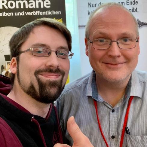Benjamin Sprang hilft beim Selfie
